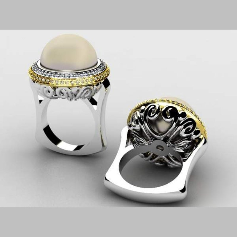 Antony Jewelers White pearl cocktail ring