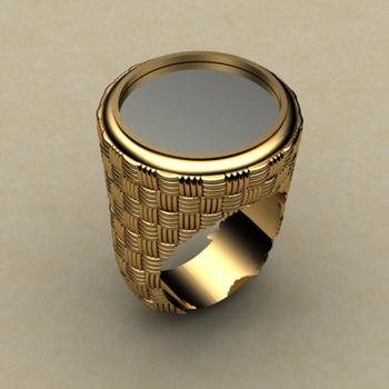 Black onyx men's ring