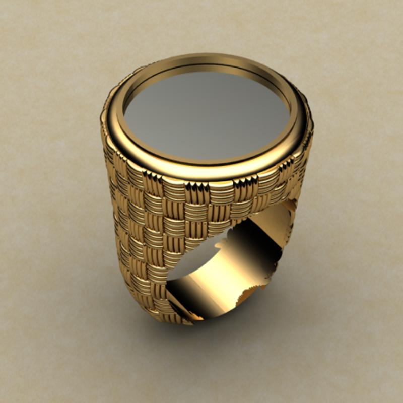 Antony Jewelers Black onyx men's ring