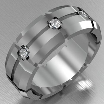 Uniquely designed men's ring