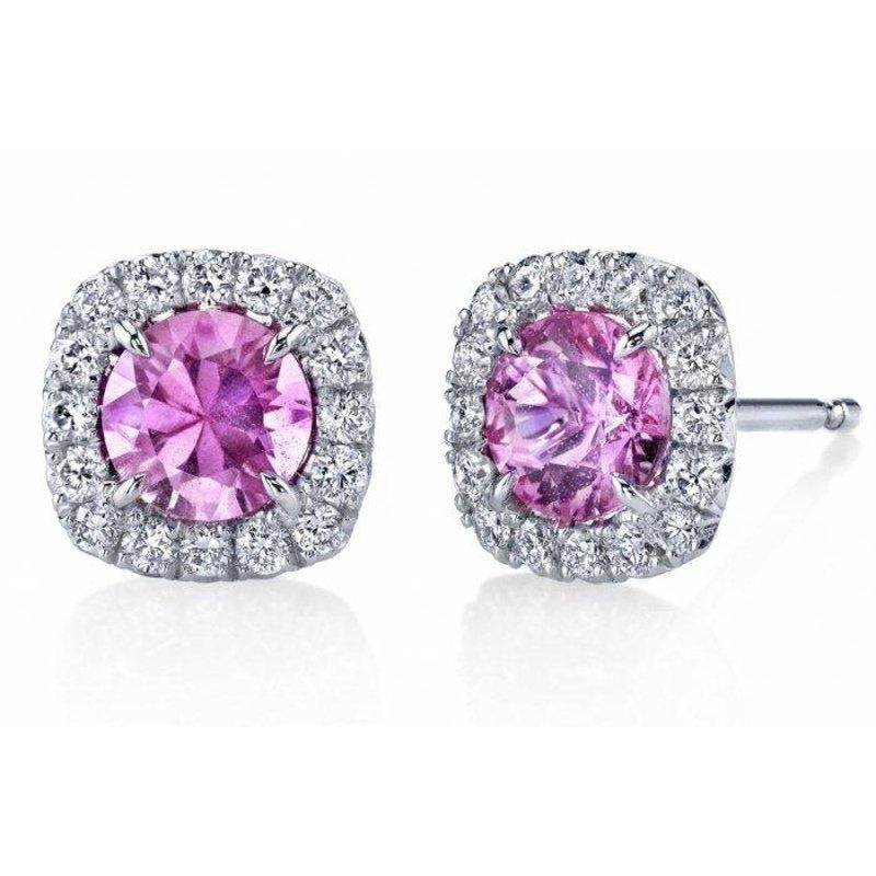 Antony Jewelers Pink sapphire stud earrings