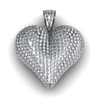 """Heart"" Pendant with diamonds"