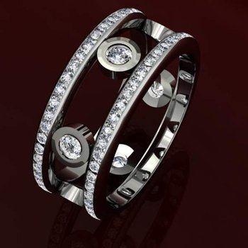 Timeless design diamond men's ring
