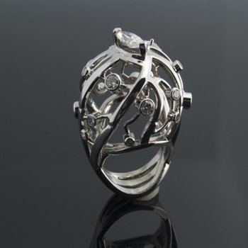 One-of-a-kind diamond fashion ring