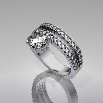 Unique geometrical engagement ring