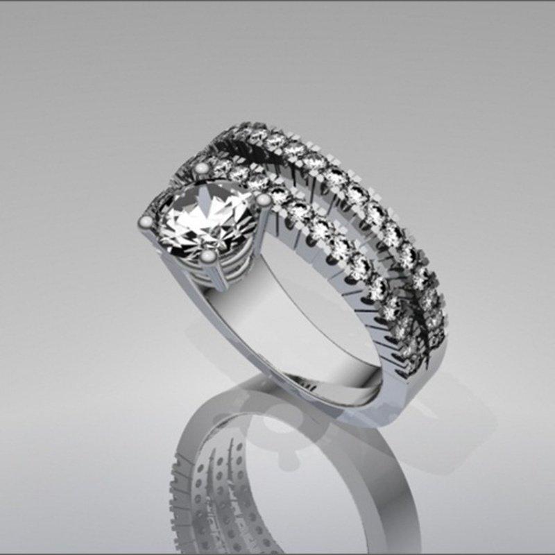 Antony Jewelers Unique geometrical engagement ring