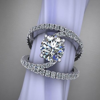 One-of-a-kind diamond engagement ring