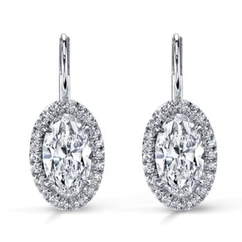 Oval Diamond earrings!