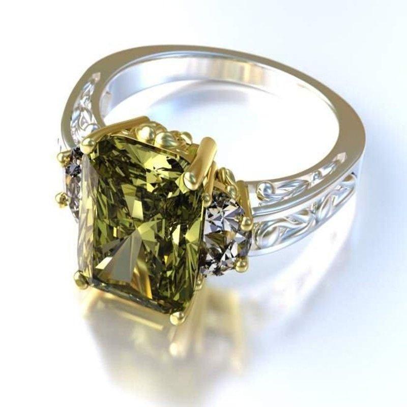 Antony Jewelers Yellow diamond engagement ring