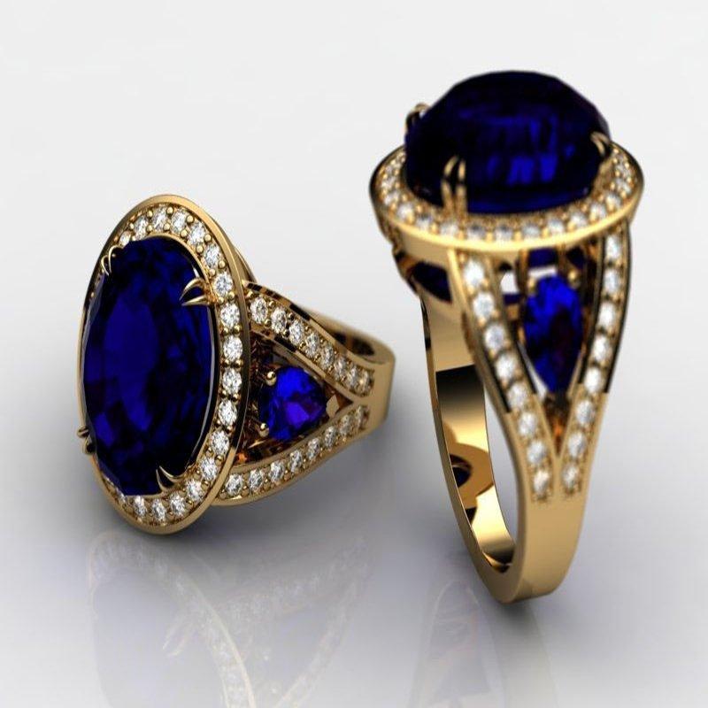 Antony Jewelers Yellow gold sapphire ring