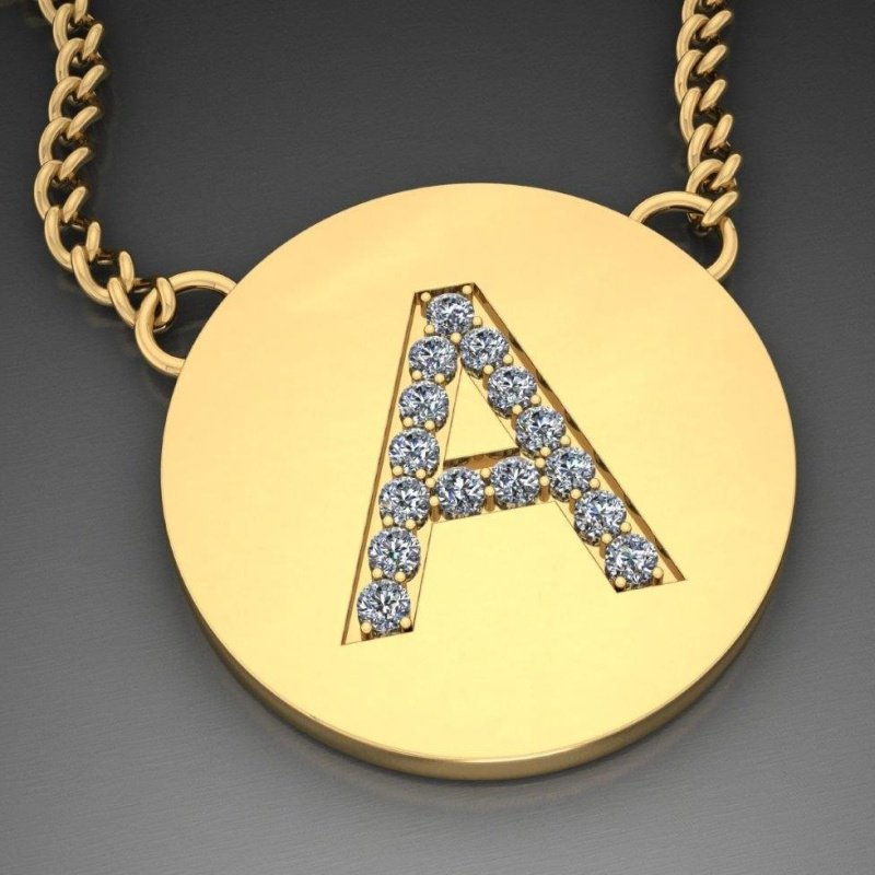 Antony Jewelers Initial  diamond necklace