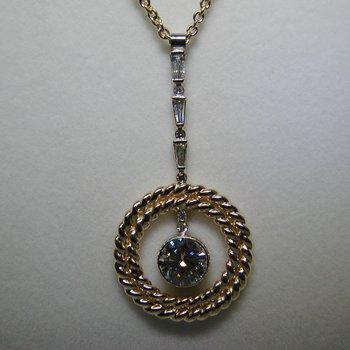 Unique two-tone diamond necklace
