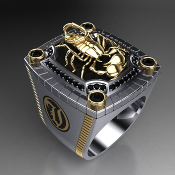 Amazing 3-D Scorpion ring