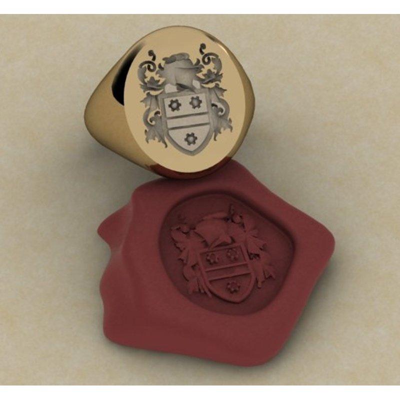 Antony Jewelers Code of arms symbol gold men's ring