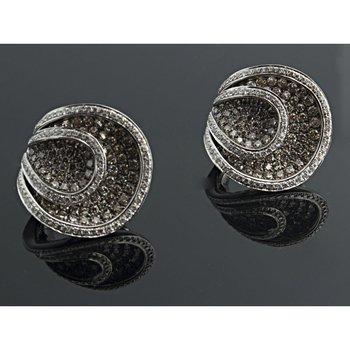 Champagne diamonds earrings