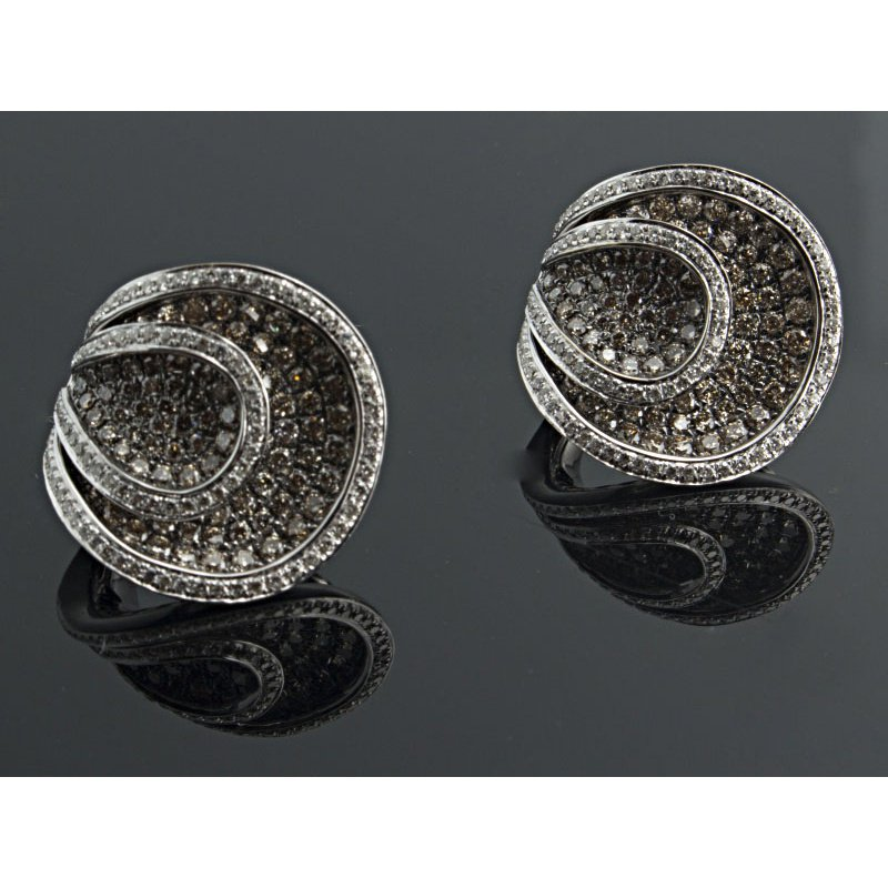 Antony Jewelers Champagne diamonds earrings