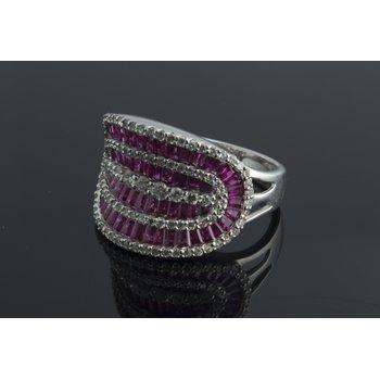 Rubies cocktail fashion ring