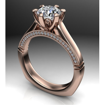 Beautifly crafted rose gold Engagement Ring
