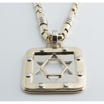 Structurally complicated Star of David necklace
