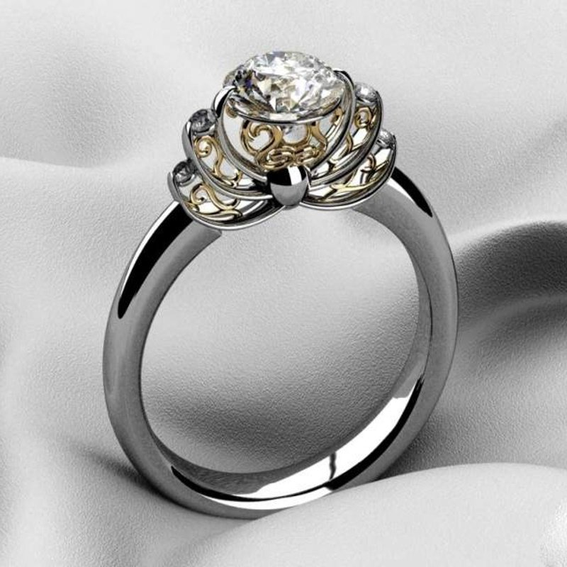 Antony Jewelers Crown style engagement ring