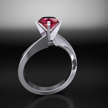 Amazingly detailed fashion ring with ruby stone