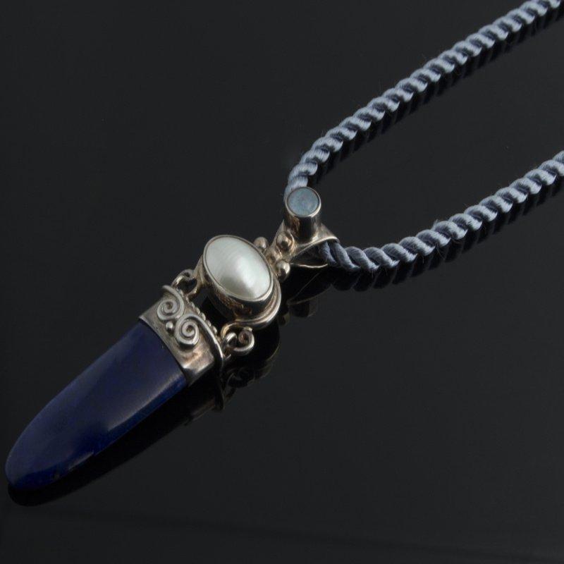 Antony Jewelers Silver pendant with lapis stone