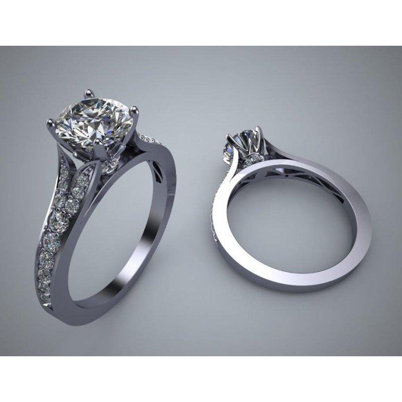 Antony Jewelers  Classical diamond engagement ring