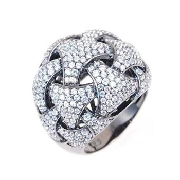 Weaving Diamond Fashion Ring