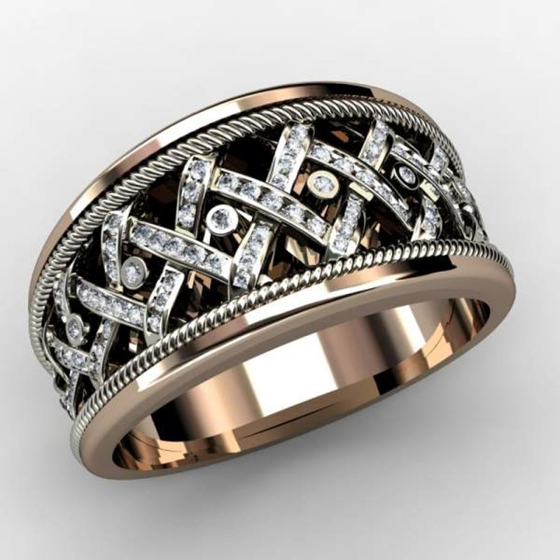 Antony Jewelers Rose gold diamond band
