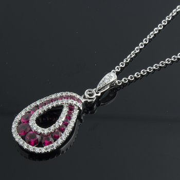Pendant with pigeon blood rubies