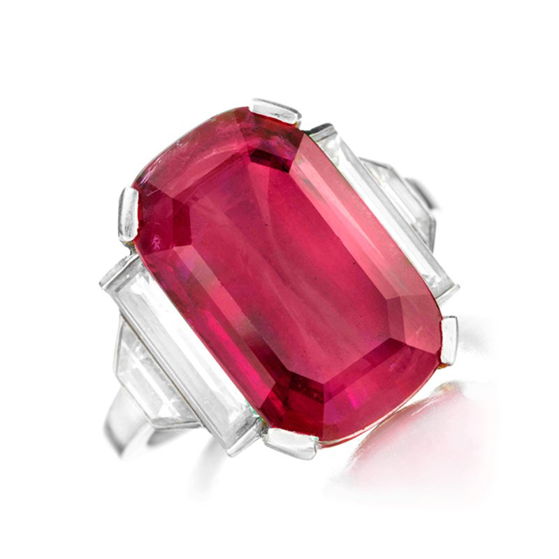 Antony Jewelers Engagement ring with oval ruby