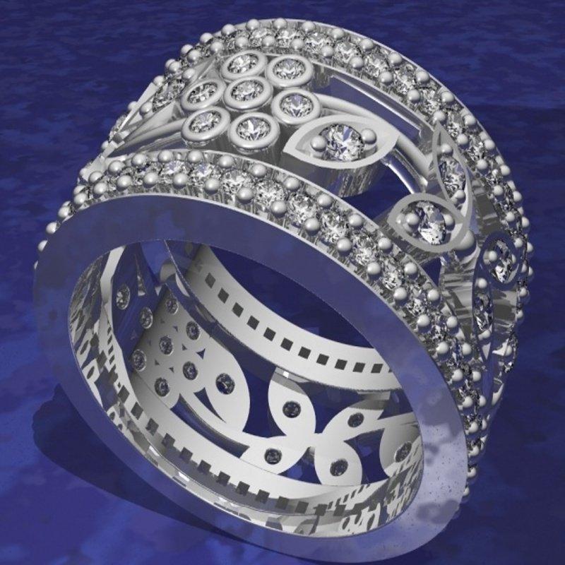Antony Jewelers Elegant floral diamond band