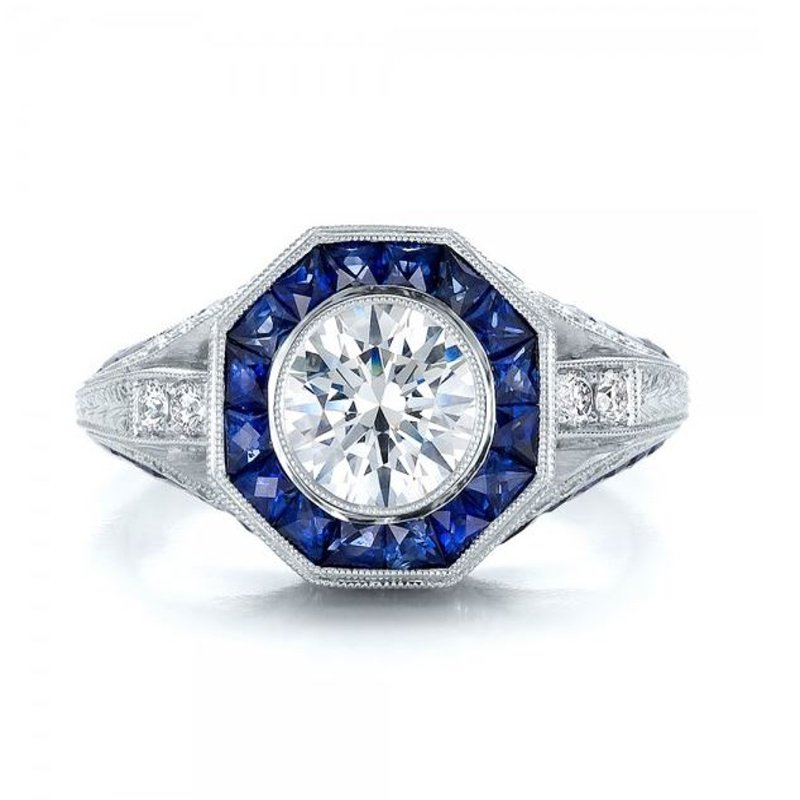 Antony Jewelers Sapphire engagement ring