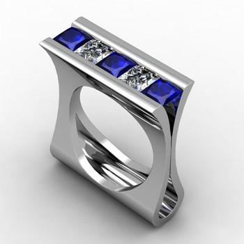 Blue Sapphire Modern ring