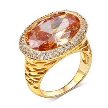 """Mrs. Citrine"" gold ring"
