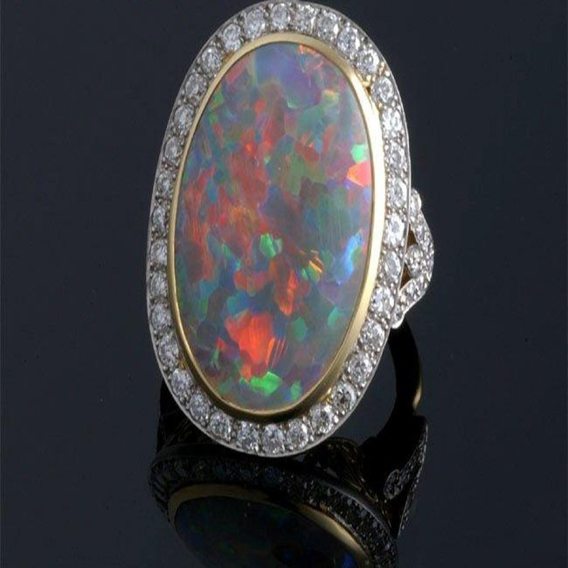 Antony Jewelers Colorful opal fashion ring
