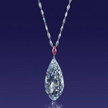 "High performance ""drop"" necklace set with alexandrites and pink sapphire"