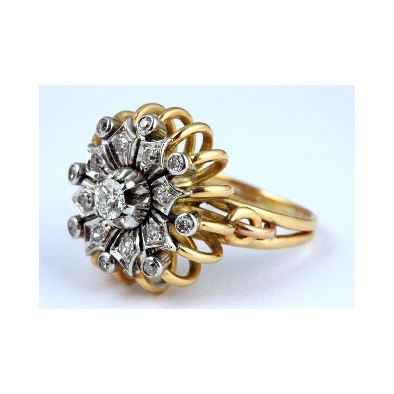 Antony Jewelers Diamond sunflower fashion ring
