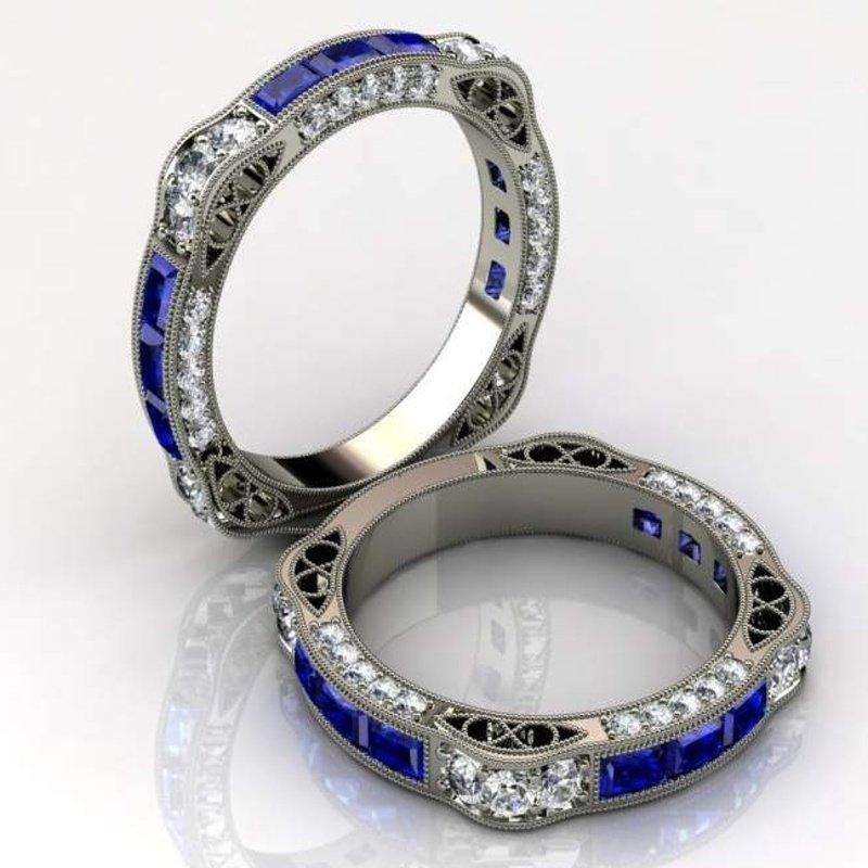 Antony Jewelers Elegant sapphire band