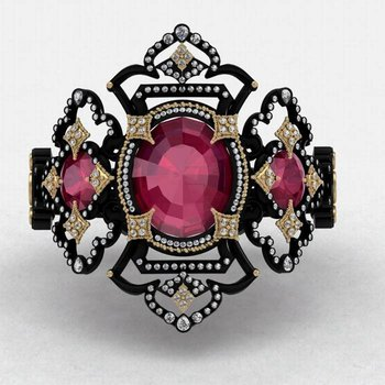 Masterpiece Imperial style fashion ring
