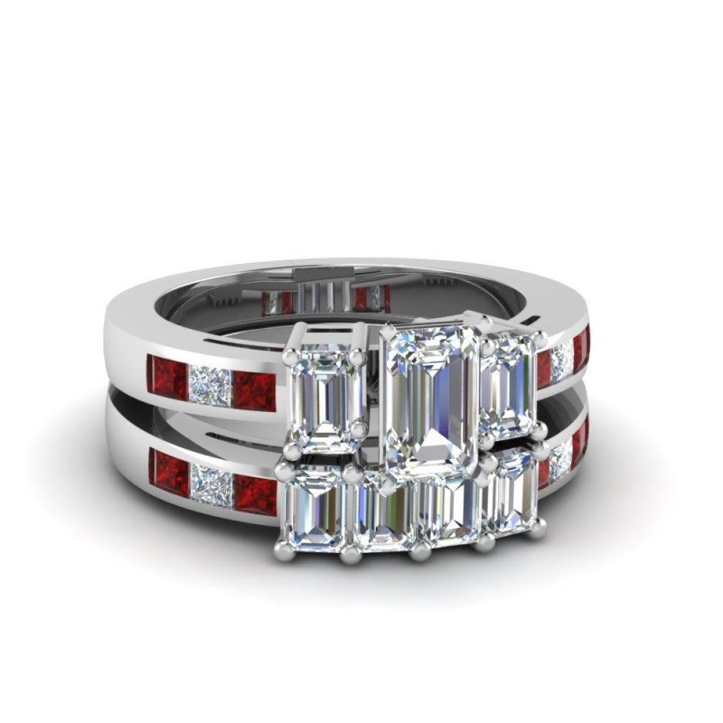 Antony Jewelers Mixed gemstones wedding band