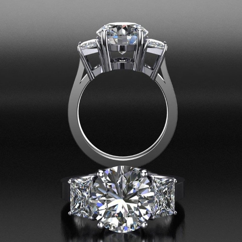 Antony Jewelers 3 stone diamond engagement ring