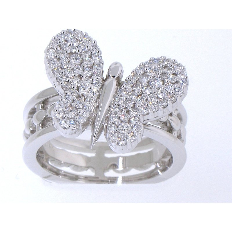Antony Jewelers Diamond butterfly fashion ring
