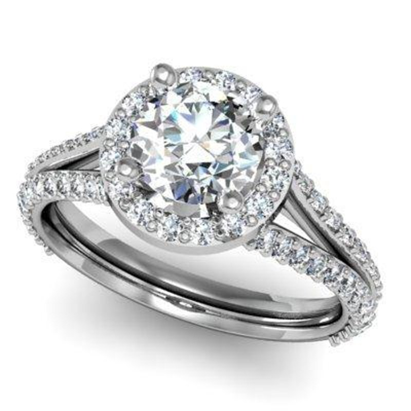 Antony Jewelers Double shank engagement ring