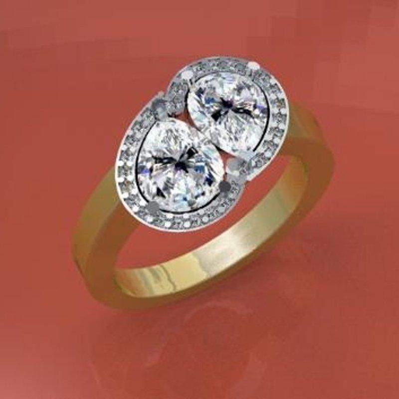 "Antony Jewelers ""Tear Of Love"" engagement ring"