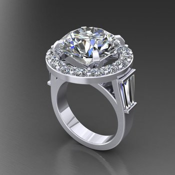 Amazingly constructed diamond engagement ring