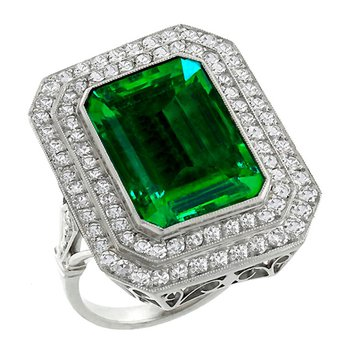 Fashion ring with Columbian Emerald
