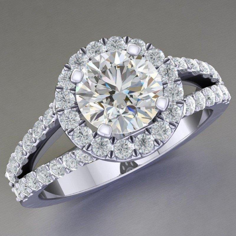 Antony Jewelers Classical engagement ring with round diamonds
