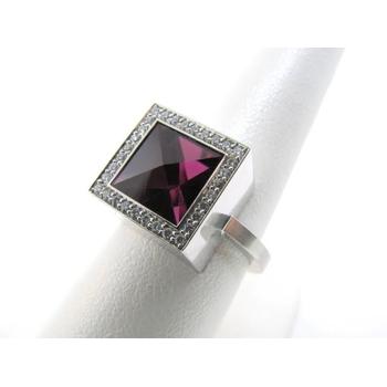 Unique Square Ruby Engagement ring