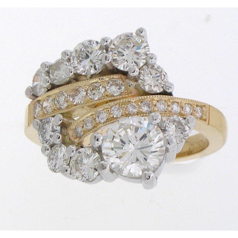 Antony Jewelers Unique two tone diamond engagement ring